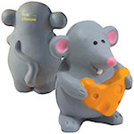 Mouse with Cheese Stress Balls